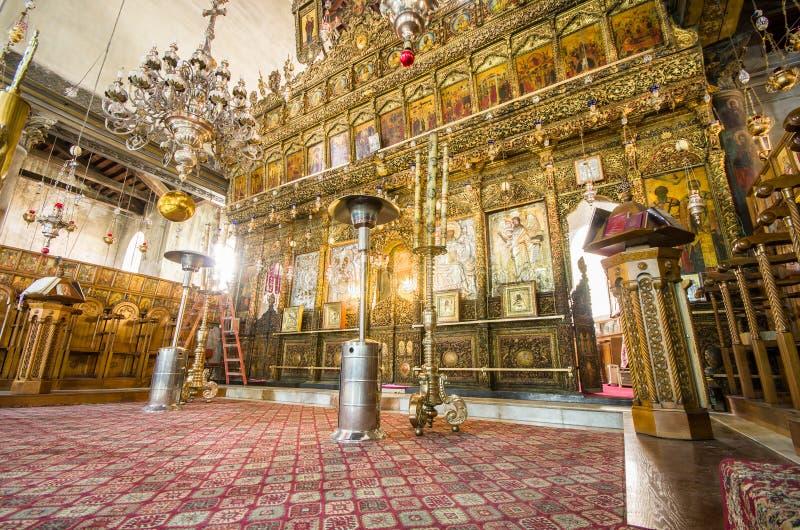 Εκκλησία του εσωτερικού Nativity, Βηθλεέμ, Ισραήλ στοκ εικόνα