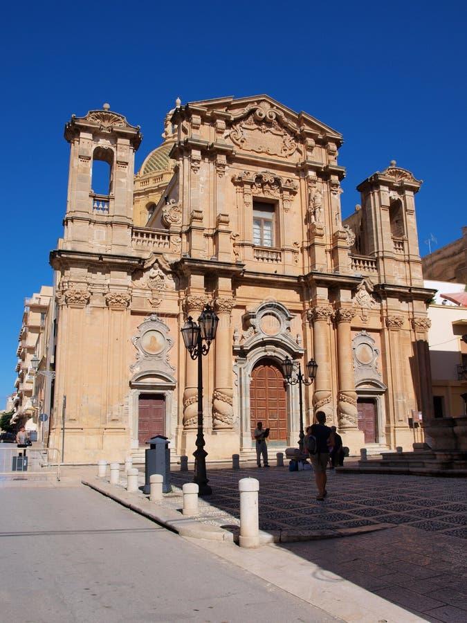 Εκκλησία του καθαρτηρίου, Marsala, Σικελία, Ιταλία στοκ εικόνες
