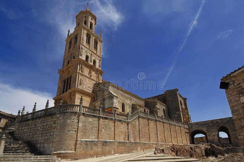 Εκκλησία του Λα Asuncion, Σάντα Μαρία del Campo, Burgos επαρχία, στοκ εικόνες
