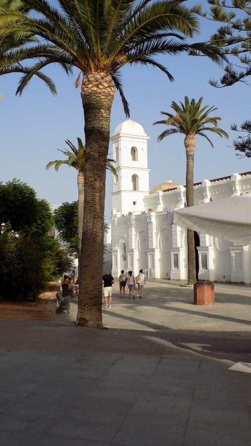 Εκκλησία του Λα Frontera- Conil de Ανδαλουσία-Ισπανία Ευρώπη στοκ φωτογραφίες με δικαίωμα ελεύθερης χρήσης
