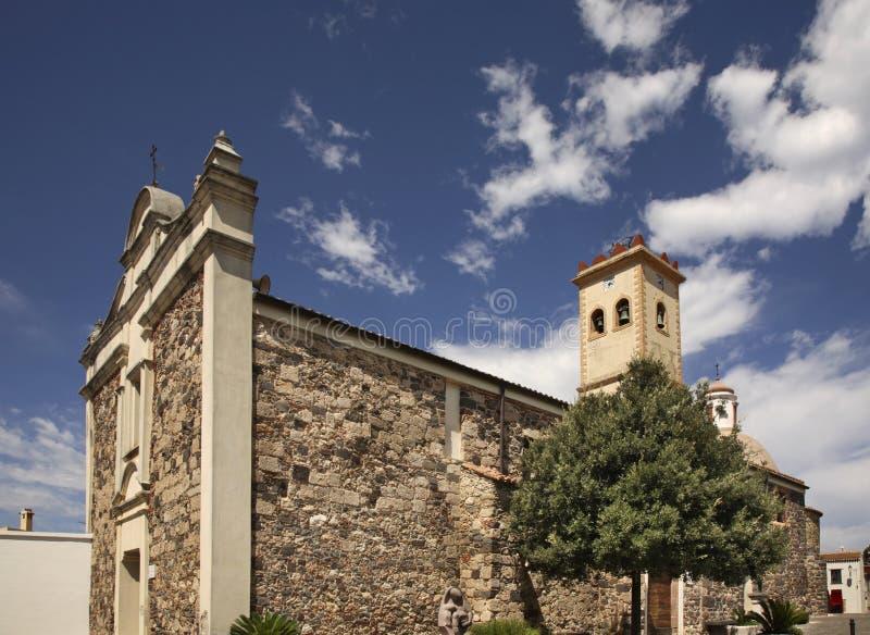 Εκκλησία του σταυρού του ST σε Galtelli Σαρδηνία Ιταλία στοκ εικόνα