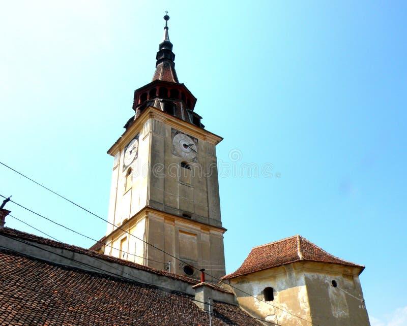 Εκκλησία του χωριού Sanpetru (Μονς Sancti Petri), κοντά σε Brasov (Kronstadt), Transilvania, Ρουμανία στοκ εικόνες