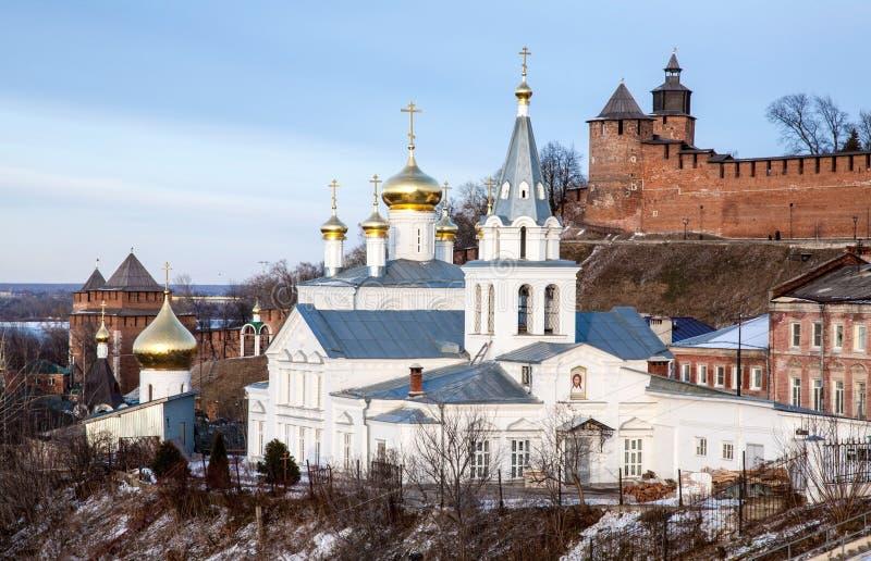 Εκκλησία του Elijah ο προφήτης και το Κρεμλίνο στοκ φωτογραφίες