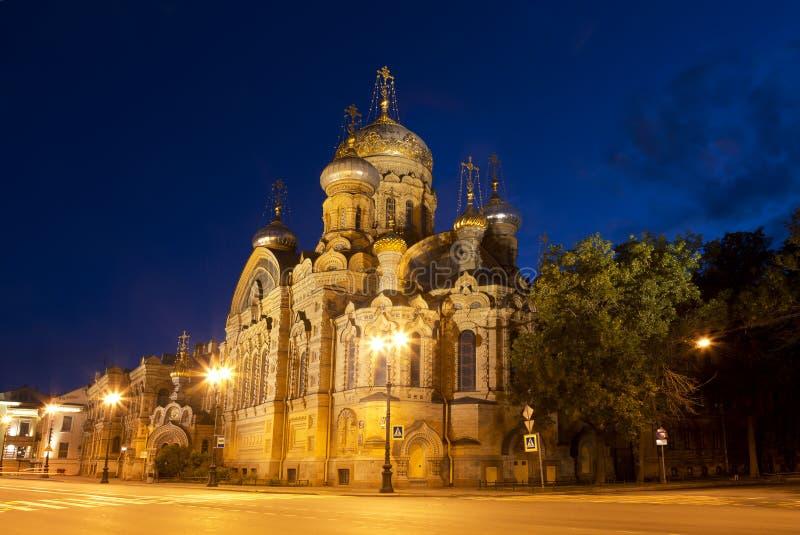 Εκκλησία του metochion υπόθεσης του Κίεβο-Pechersk Lavra τη νύχτα στοκ εικόνα με δικαίωμα ελεύθερης χρήσης