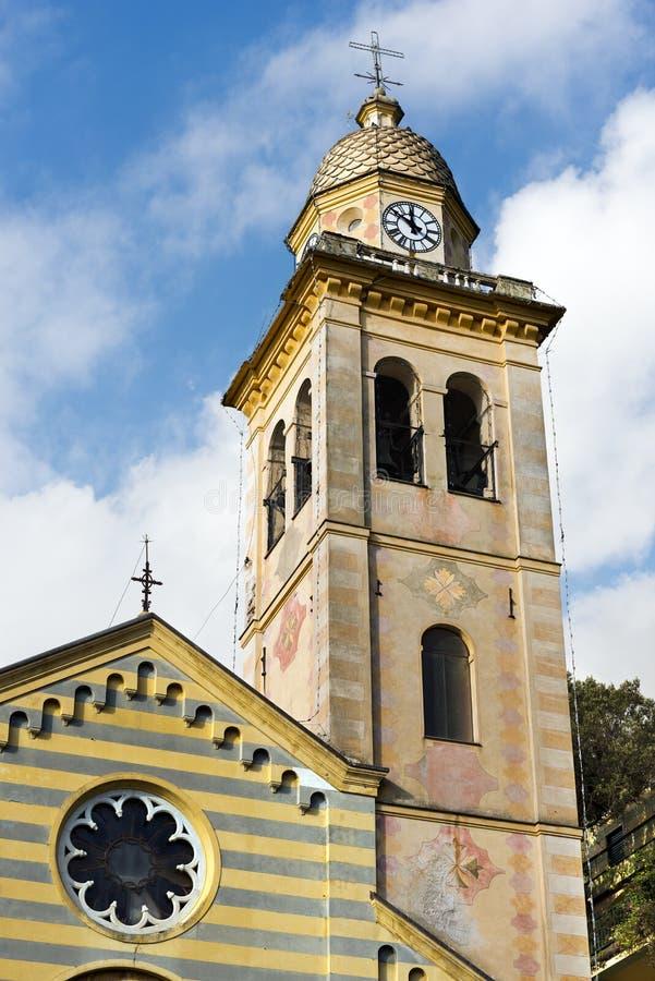 Εκκλησία του SAN Martino - Portofino Ιταλία στοκ φωτογραφία