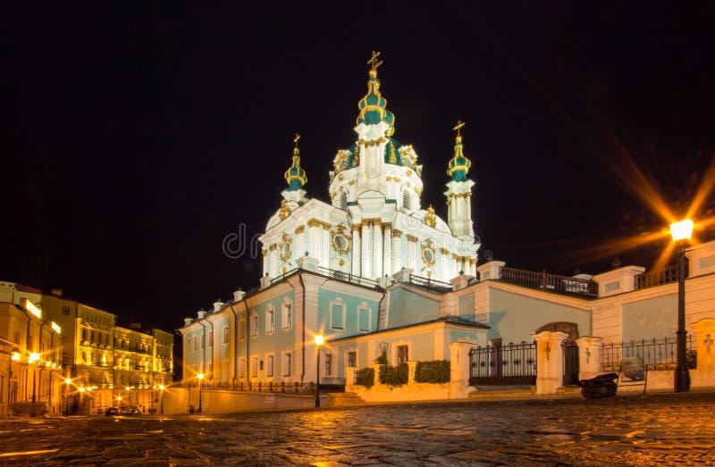 Εκκλησία του ST Andrew και κάθοδος, Κίεβο στοκ φωτογραφία με δικαίωμα ελεύθερης χρήσης