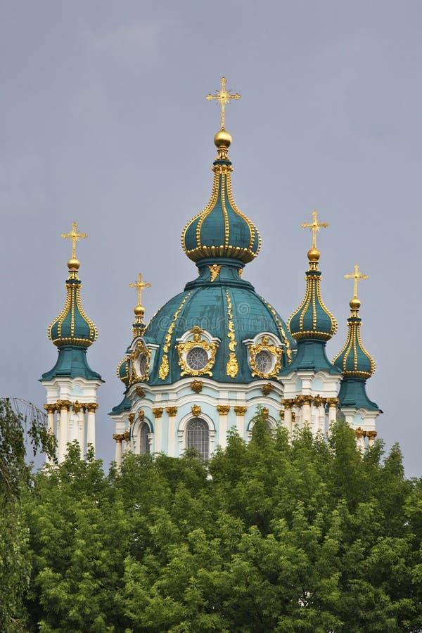 Εκκλησία του ST Andrew στο Κίεβο Ουκρανία στοκ εικόνα με δικαίωμα ελεύθερης χρήσης