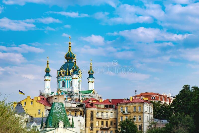 Εκκλησία του ST Andrew ` s στο Κίεβο, Ουκρανία στοκ εικόνα