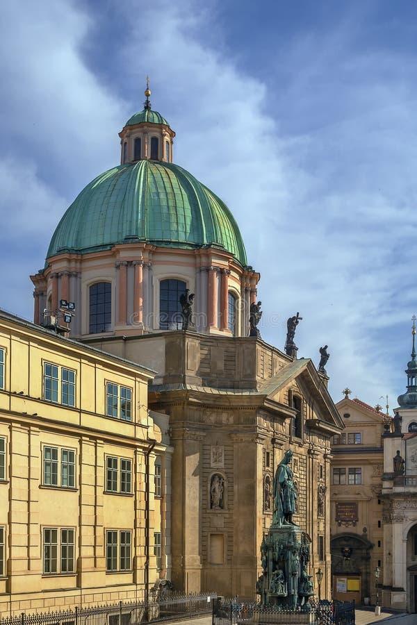 Εκκλησία του ST Francis Seraph, Πράγα στοκ εικόνες
