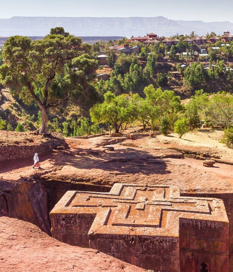 Εκκλησία του ST George σε Lalibela στην Αιθιοπία στοκ εικόνες