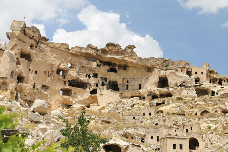 Εκκλησία του ST John ο βαπτιστικός στο χωριό Cavusin, Cappadocia στοκ φωτογραφίες με δικαίωμα ελεύθερης χρήσης