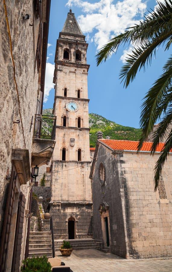 Εκκλησία του ST Nicholas στο Μαυροβούνιο, Perast στοκ φωτογραφίες με δικαίωμα ελεύθερης χρήσης