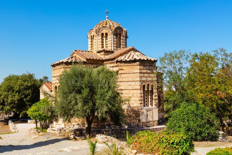 Εκκλησία των ιερών αποστόλων στην αρχαία αγορά, Αθήνα, Ελλάδα στοκ εικόνες