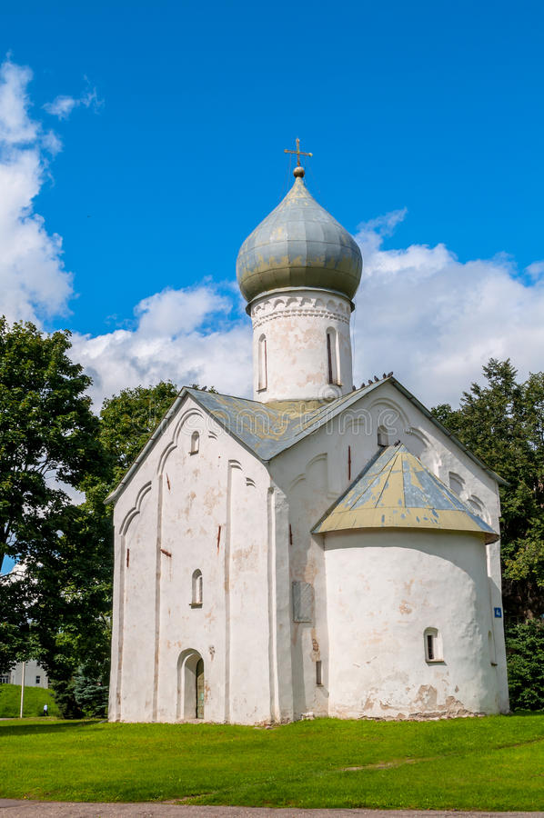 Εκκλησία των δώδεκα αποστόλων στην άβυσσο σε Veliky Novgorod, Ρωσία στοκ εικόνες με δικαίωμα ελεύθερης χρήσης