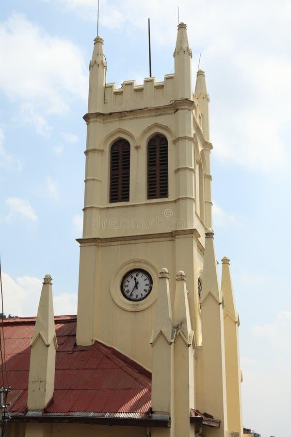 Εκκλησία Χριστού στην πόλη Shimla στοκ φωτογραφία