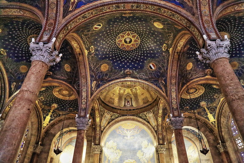 Εκκλησία όλων των εθνών (βασιλική της αγωνίας) στοκ εικόνες