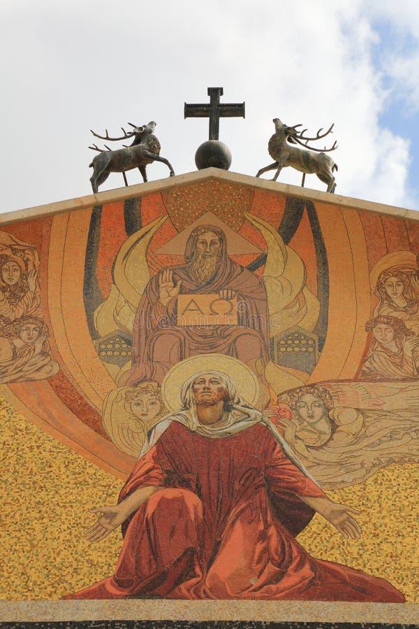 Εκκλησία όλων των εθνών (βασιλική της αγωνίας) στοκ εικόνα