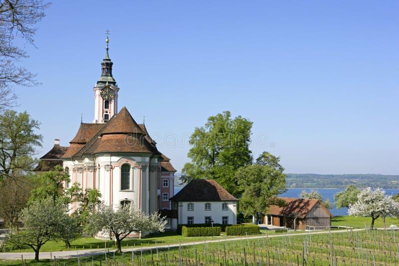 Εκκλησία Birnau προσκυνήματος στη λίμνη Constance στοκ φωτογραφίες