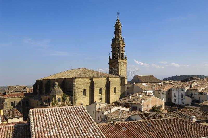 Εκκλησία Briones, Λα Rioja Λα Asuncion στοκ εικόνες