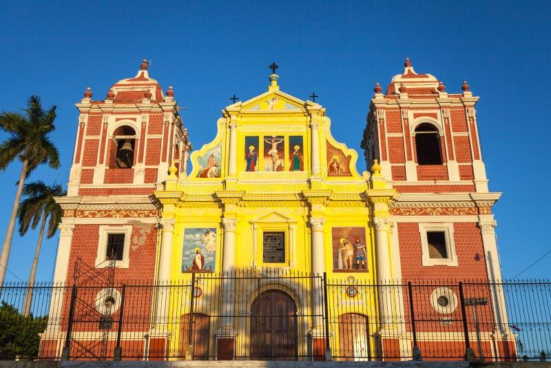 Εκκλησία EL Calvario, Leon, Νικαράγουα στοκ εικόνα