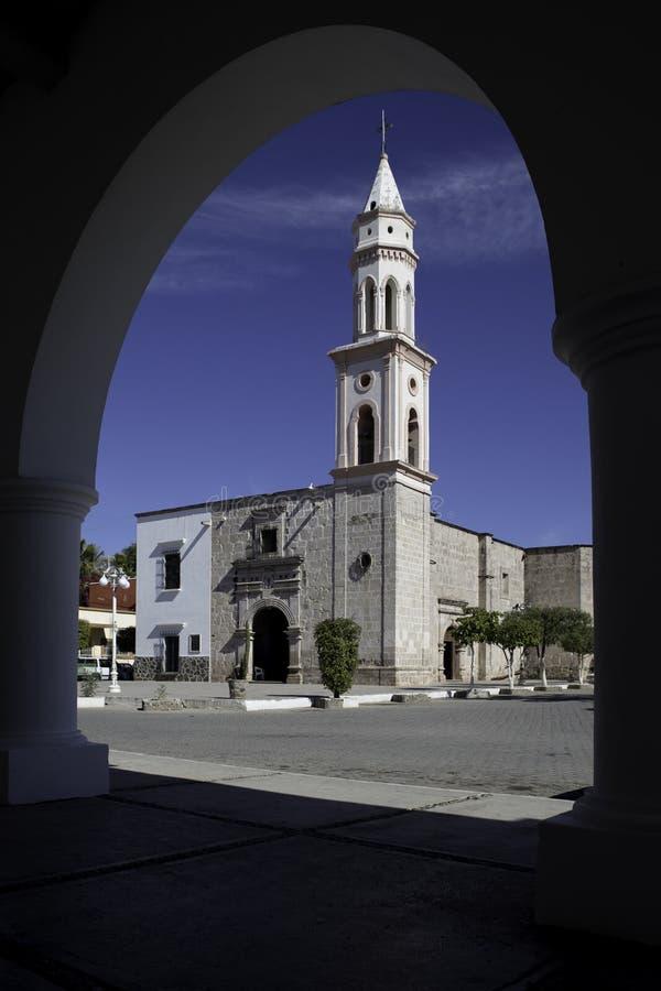 Εκκλησία, EL Fuerte, Sinaloa, Μεξικό στοκ εικόνες