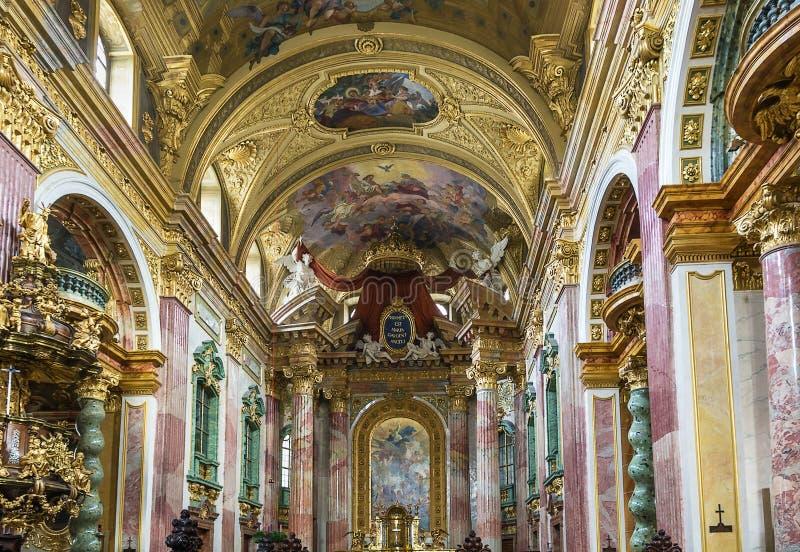 Εκκλησία Jesuit, Βιέννη στοκ φωτογραφίες