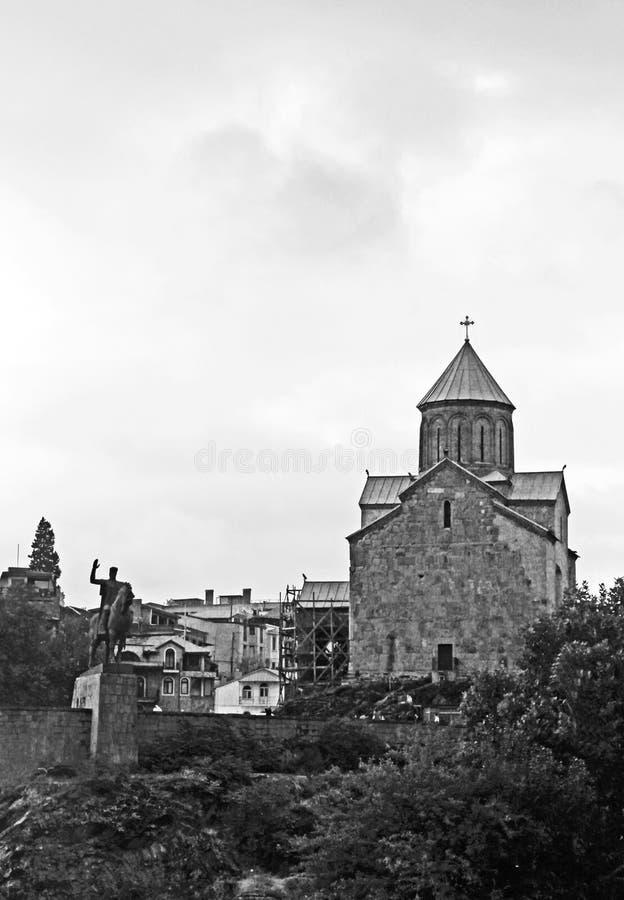 Εκκλησία Metekhi, Tbilisi, Γεωργία στοκ εικόνα με δικαίωμα ελεύθερης χρήσης