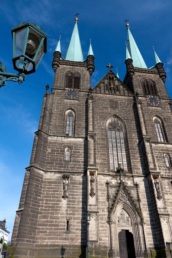 Εκκλησία σε Chrudim στοκ φωτογραφίες με δικαίωμα ελεύθερης χρήσης