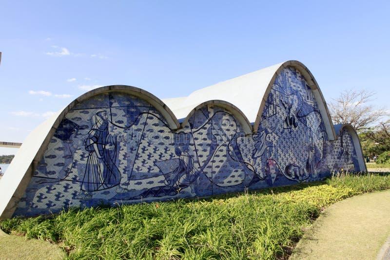 Εκκλησία Pampulha στο Μπέλο Οριζόντε, Βραζιλία στοκ φωτογραφίες