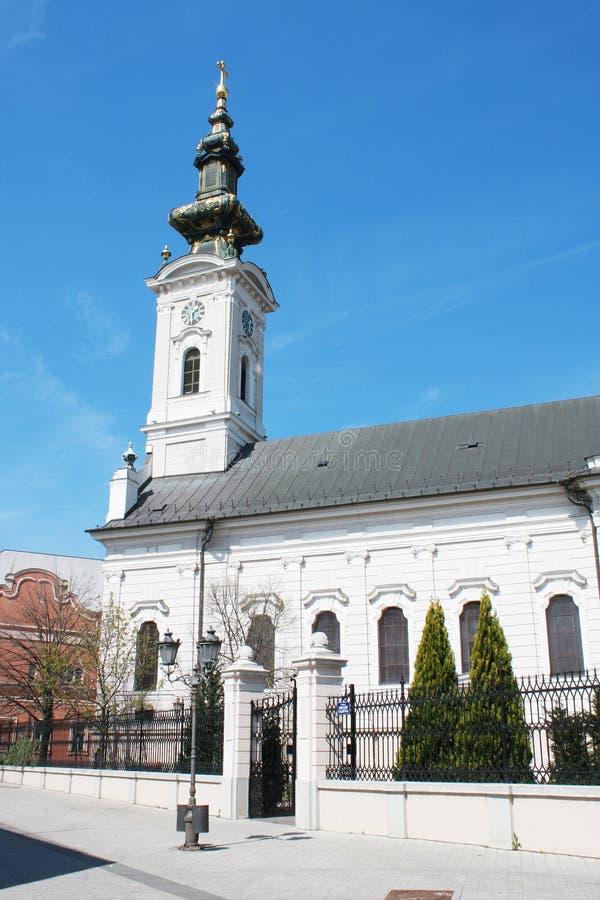 Εκκλησία Saborna, μια από την έλξη του Νόβι Σαντ στοκ φωτογραφία με δικαίωμα ελεύθερης χρήσης