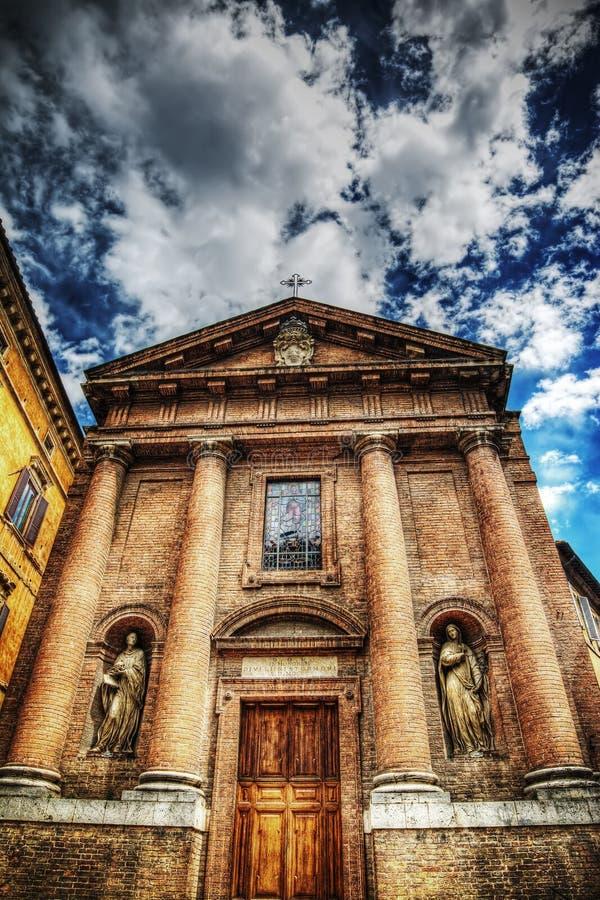 Εκκλησία SAN Cristoforo στη Σιένα στοκ φωτογραφία με δικαίωμα ελεύθερης χρήσης