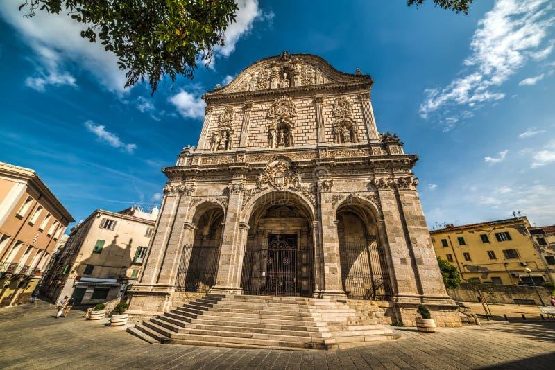 Εκκλησία SAN Nicola σε Sassari στοκ εικόνα