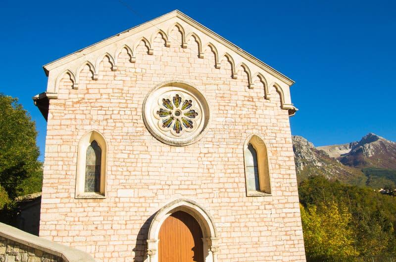 Εκκλησία Ussita στοκ φωτογραφία με δικαίωμα ελεύθερης χρήσης