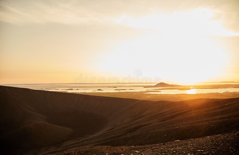 εκλείψας ηφαίστειο κρα& στοκ φωτογραφίες με δικαίωμα ελεύθερης χρήσης