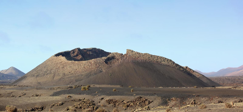 εκλείψας ηφαίστειο στοκ εικόνες με δικαίωμα ελεύθερης χρήσης