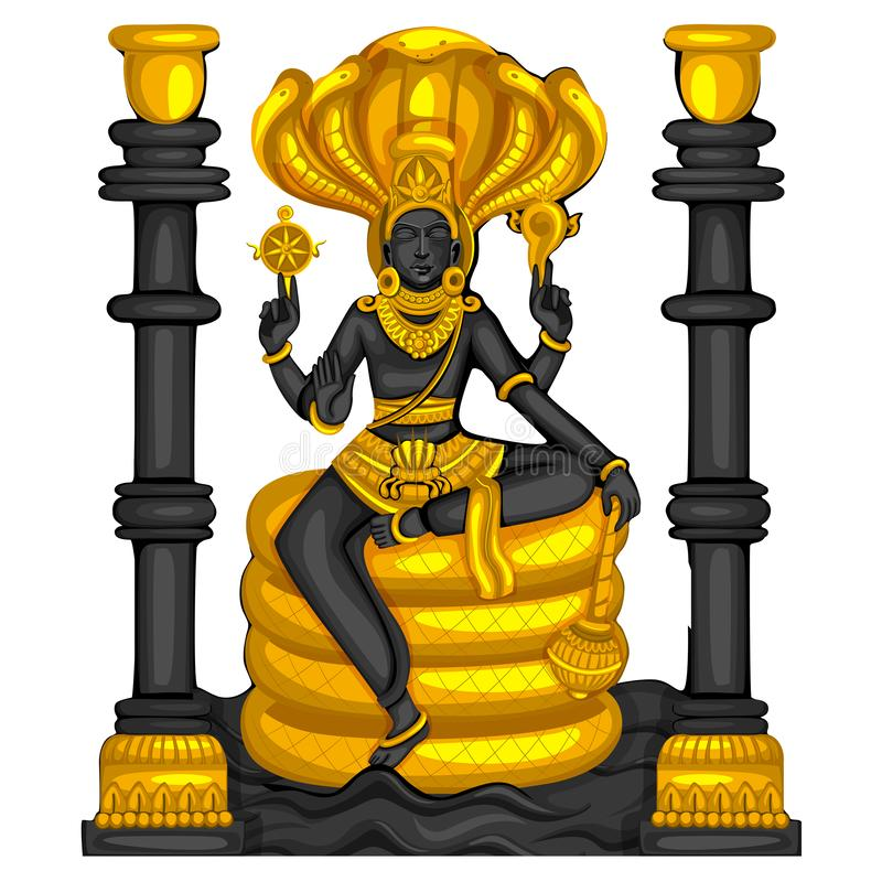 Εκλεκτής ποιότητας άγαλμα του ινδικού γλυπτού Λόρδου Shiva που χαράσσεται στην πέτρα διανυσματική απεικόνιση