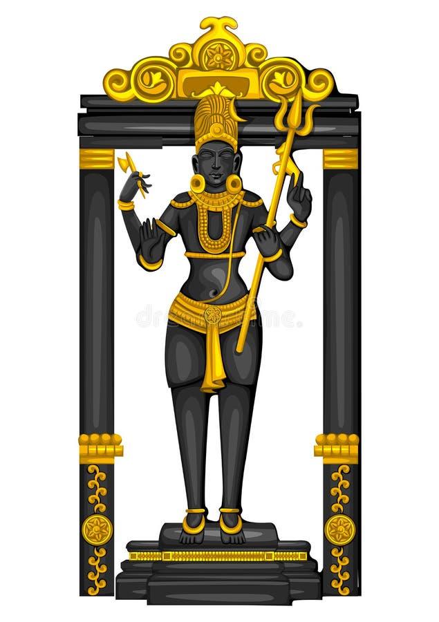 Εκλεκτής ποιότητας άγαλμα του ινδικού γλυπτού Λόρδου Shiva που χαράσσεται στην πέτρα ελεύθερη απεικόνιση δικαιώματος