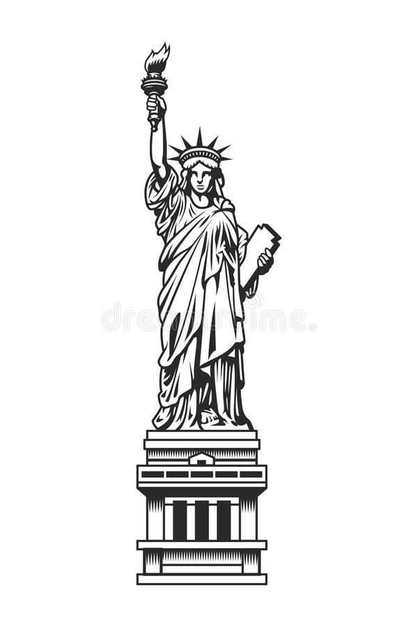 Εκλεκτής ποιότητας άγαλμα του προτύπου ελευθερίας ελεύθερη απεικόνιση δικαιώματος