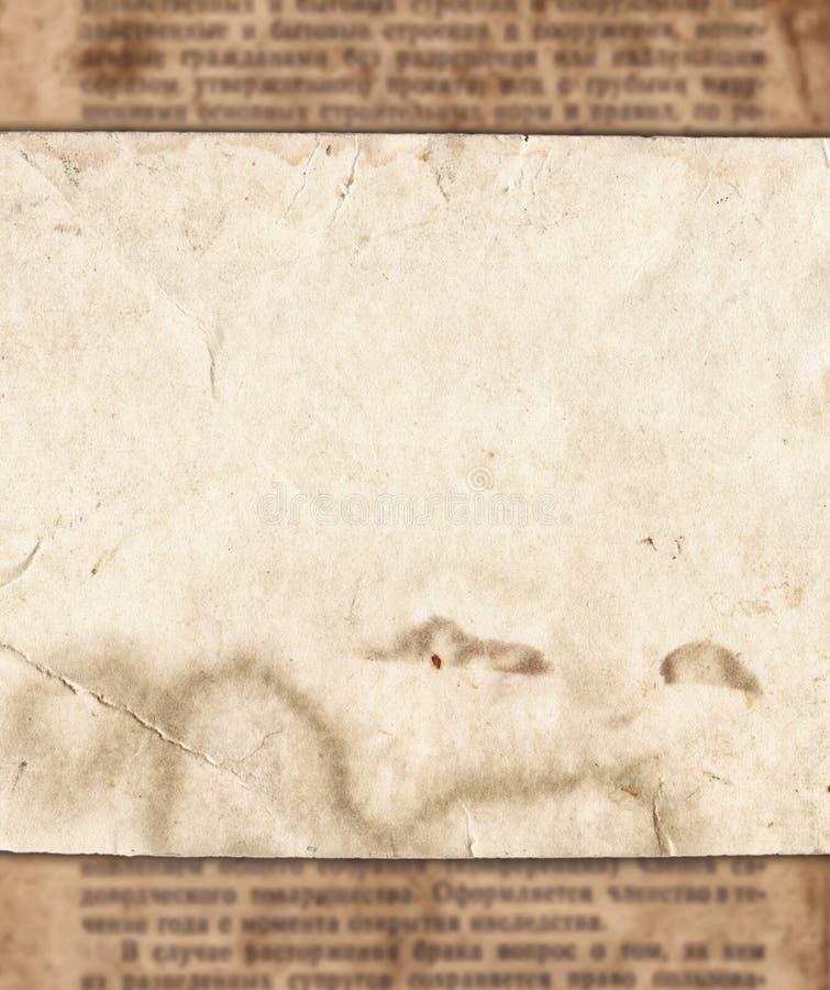 Εκλεκτής ποιότητας έγγραφο για το παλαιό υπόβαθρο σύστασης εφημερίδων απεικόνιση αποθεμάτων