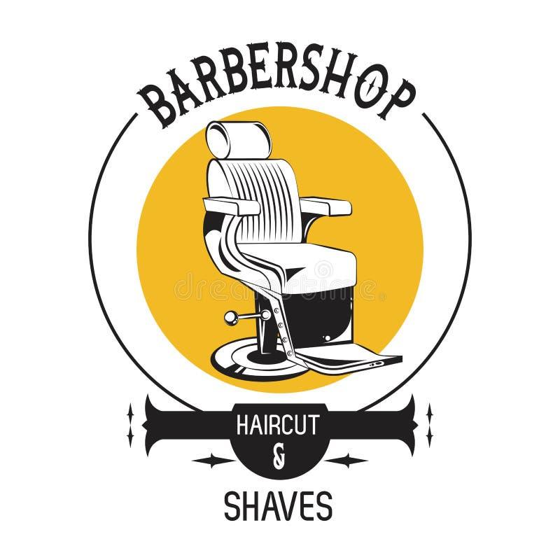 Εκλεκτής ποιότητας έμβλημα Barbershop ελεύθερη απεικόνιση δικαιώματος