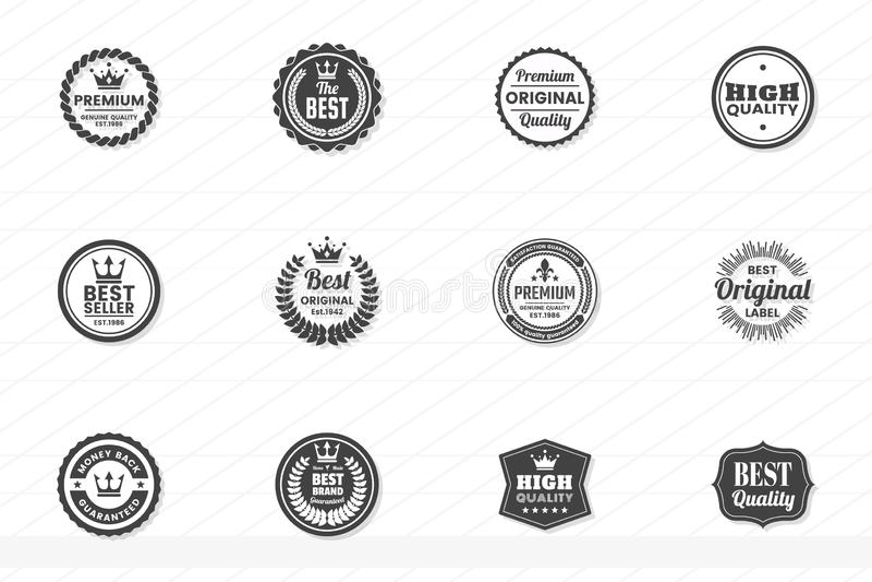 Εκλεκτής ποιότητας αναδρομικό διανυσματικό λογότυπο για το έμβλημα ελεύθερη απεικόνιση δικαιώματος