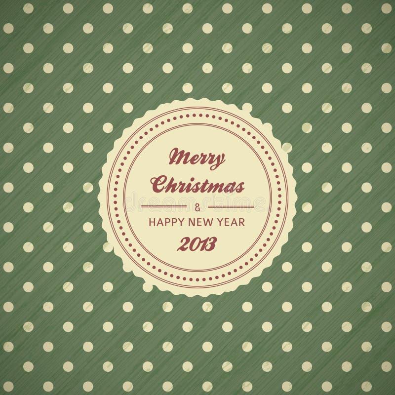 Εκλεκτής ποιότητας ανασκόπηση καρτών Χριστουγέννων απεικόνιση αποθεμάτων