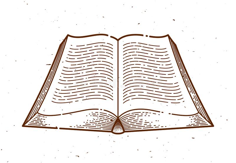 Εκλεκτής ποιότητας ανοικτό στοιχείο σχεδίου βιβλίων διανυσματικό γραφικό απεικόνιση αποθεμάτων