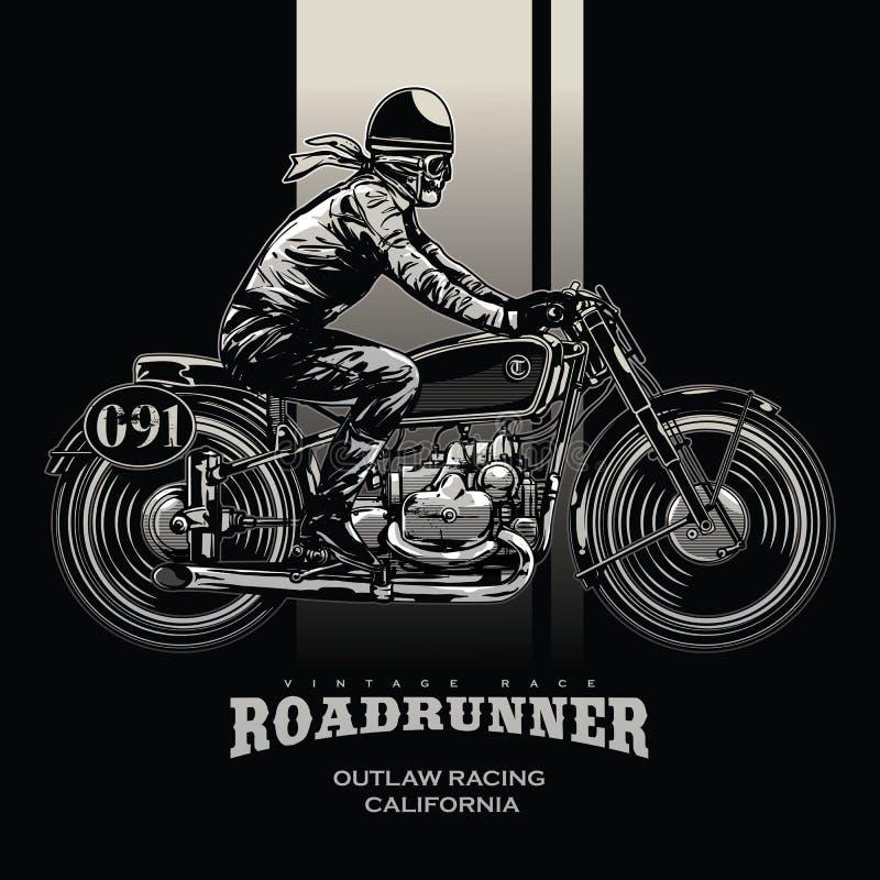 Εκλεκτής ποιότητας αφίσα φυλών μοτοσικλετών ελεύθερη απεικόνιση δικαιώματος
