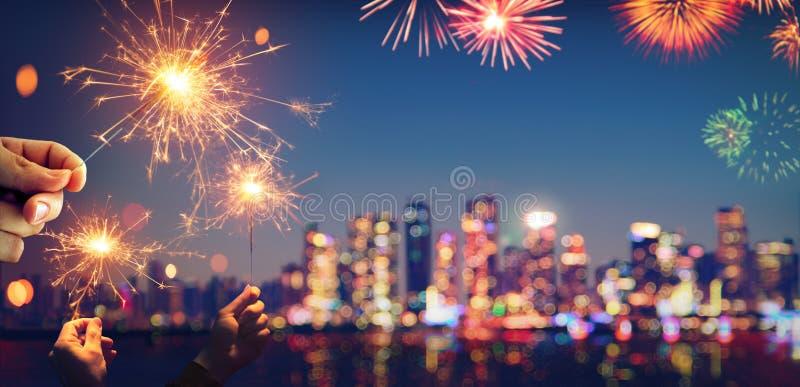 Εκλεκτής ποιότητας αφηρημένος εορτασμός με Bokeh στοκ εικόνες