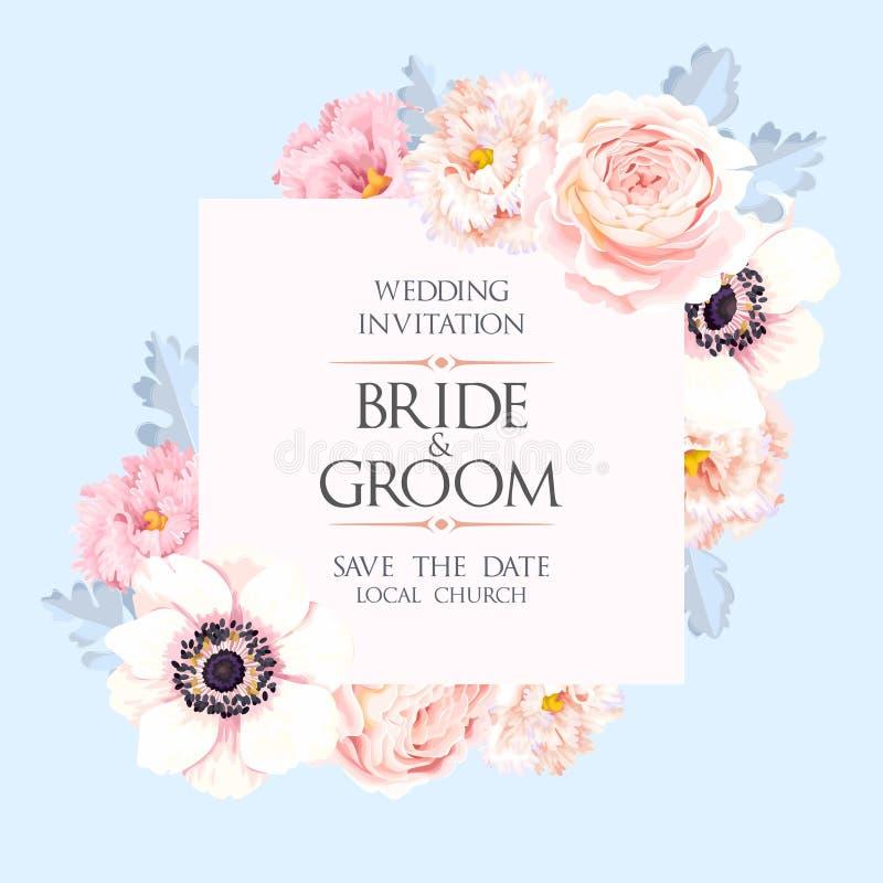Εκλεκτής ποιότητας γαμήλια πρόσκληση διανυσματική απεικόνιση