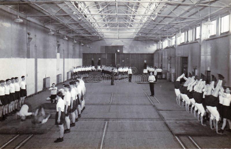 Εκλεκτής ποιότητας γραπτή φωτογραφία RAF Hednesford, Stafford, εισαγωγή της βρετανικής δεκαετίας του '50 στοκ εικόνες