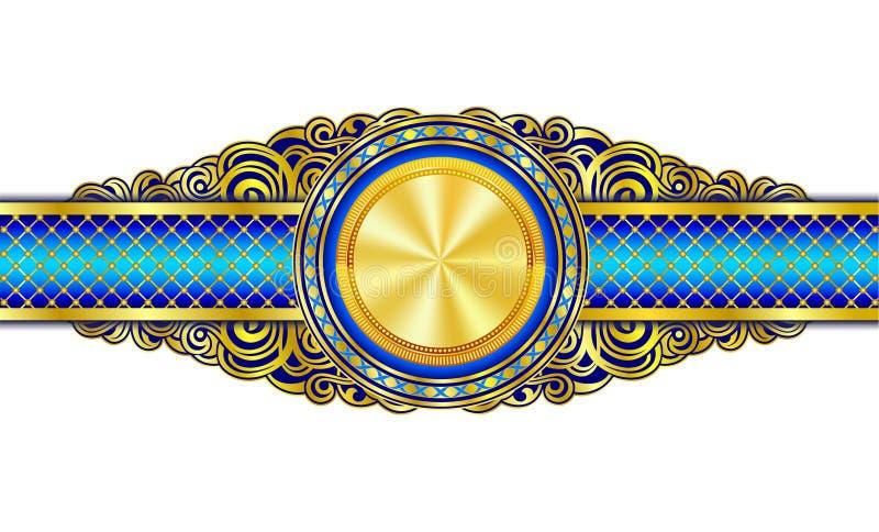 Εκλεκτής ποιότητας διακοσμητικό έμβλημα με καλυμμένο το χρυσός κύκλο στο κέντρο ελεύθερη απεικόνιση δικαιώματος