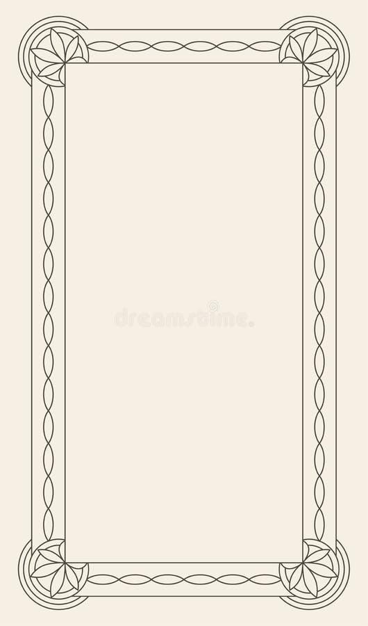 Εκλεκτής ποιότητας διανυσματικό πρότυπο ευχετήριων καρτών διακοσμήσεων Αναδρομική πρόσκληση πολυτέλειας, βασιλικό πιστοποιητικό Α διανυσματική απεικόνιση