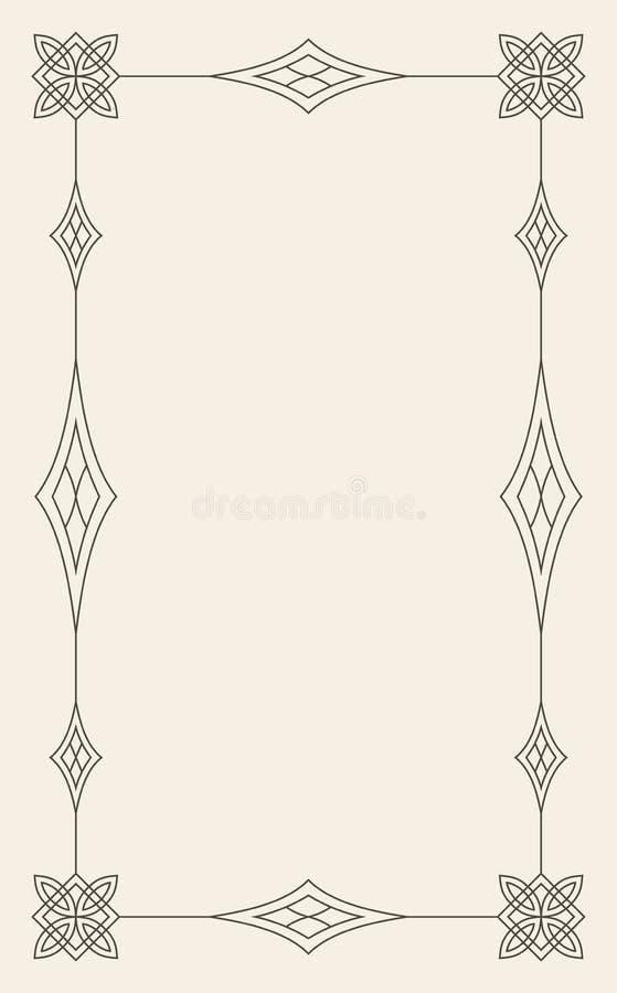 Εκλεκτής ποιότητας διανυσματικό πρότυπο ευχετήριων καρτών διακοσμήσεων Αναδρομική πρόσκληση πολυτέλειας, βασιλικό πιστοποιητικό Α απεικόνιση αποθεμάτων